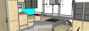 Küche auf dem Plan